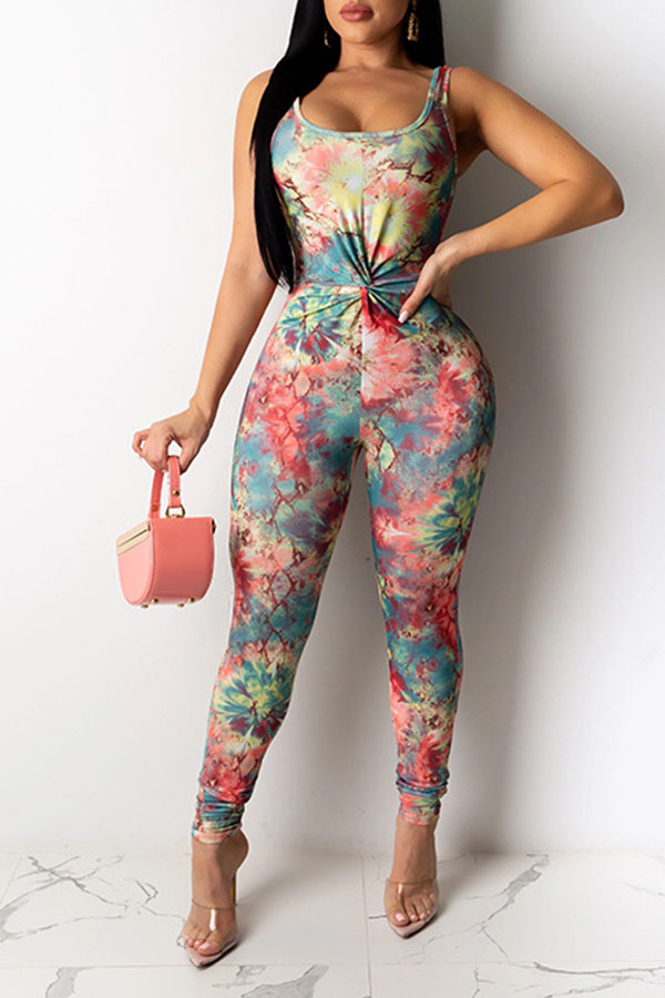 Lovely Trendy Print Multicolor One-piece Jumpsuit фото