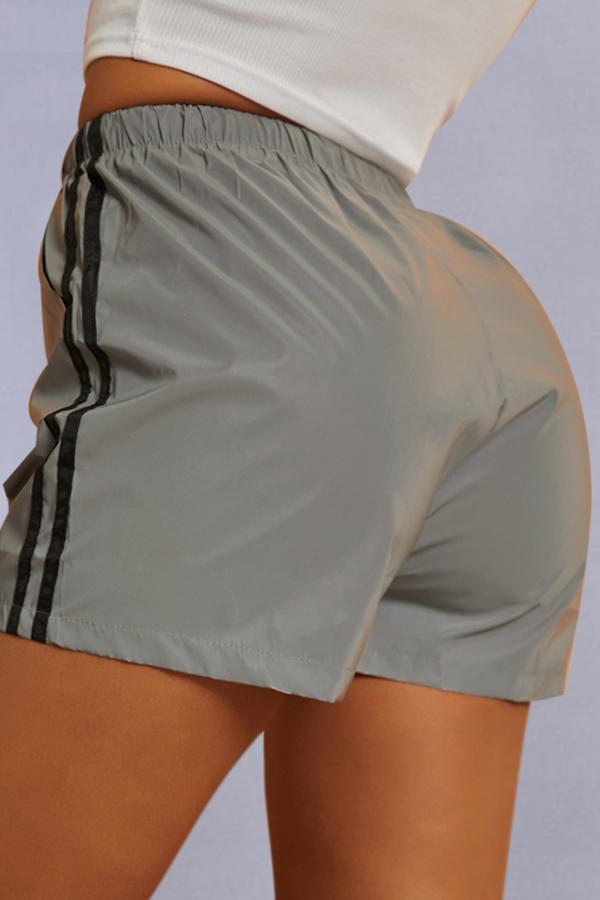 Lovely Sportswear Drawstring Black Shorts