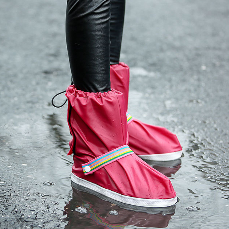 Lovely Trendy Couple EVA Environmental Red Rain Boots