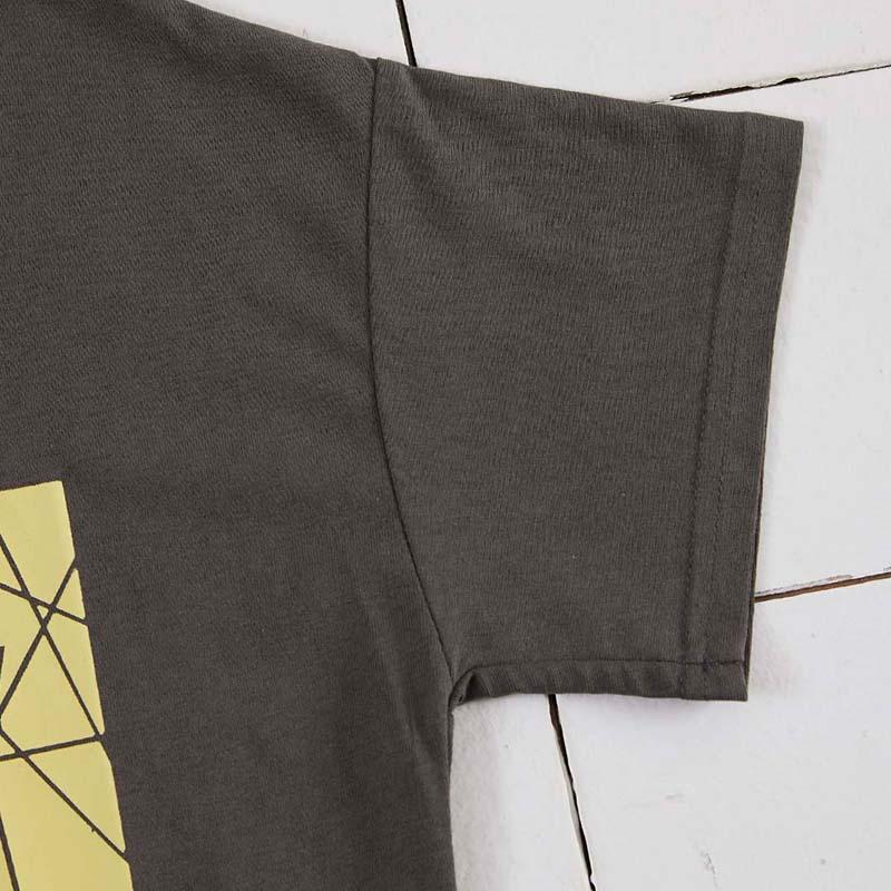 Lovely Casual O Neck Letter Print Dark Grey T-shirt
