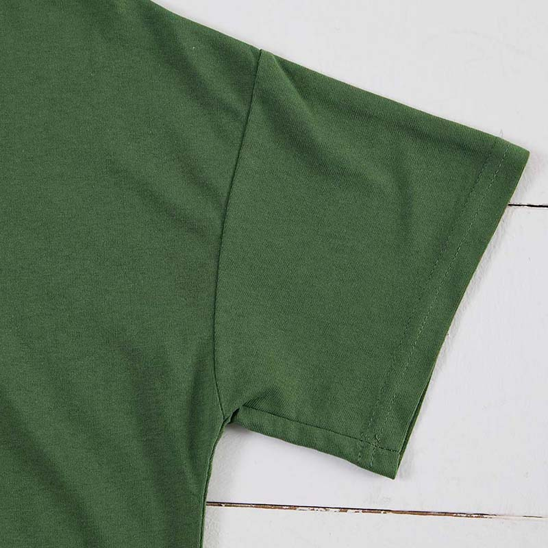 Lovely Casual O Neck Letter Print Green T-shirt