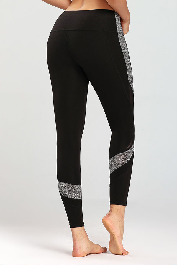 Lovely Leisure Patchwork Grey Black Leggings