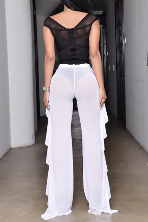 Lovely Chic See-through White Pants