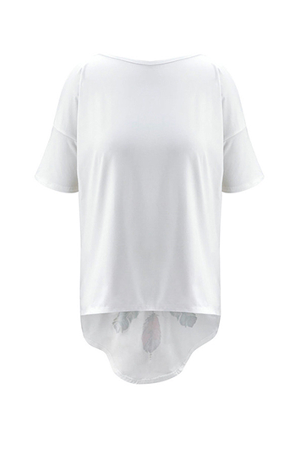 Lovely Casual Asymmetrical White Blouse