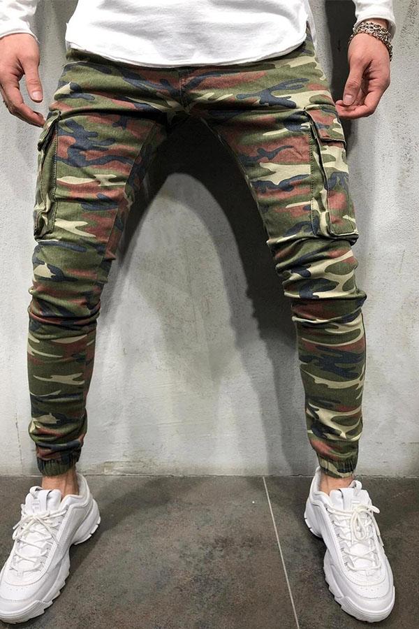 Lovely Trendy Camo Print Jeans