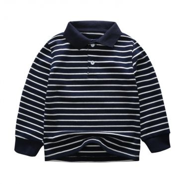 Lovely Leisure Striped Dark Blue Boys T-shirt