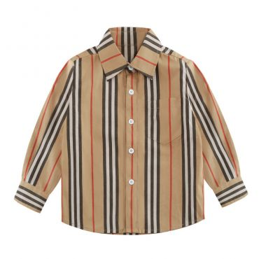 Lovely Chic Striped Print Boys Shirt
