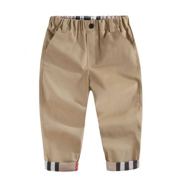Lovely Casual Basic Khaki Boys Pants