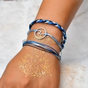 Lovely Bohemian 3-piece Blue Bracelet