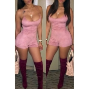 Lovely Trendy Skinny Pink One-piece Romper