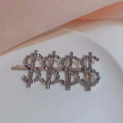 Lovely Trendy Letter Silver Hairpin