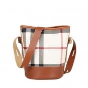 Lovely Casual Print Brown Messenger Bag