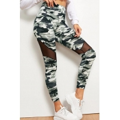 Lovely Sportswear Camo Print Army Green Plus Size