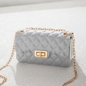 Lovely Chic Basic Grey Messenger Bag