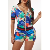 Lovely Stylish Print Multicolor Loungewear