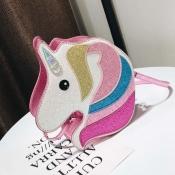 Lovely Sweet Cartoon Pink Crossbody Bag