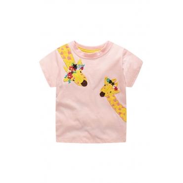 Lovely Chic Print Light Pink Girl T-shirt