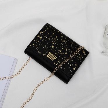 Lovely Chic Black Messenger Bag