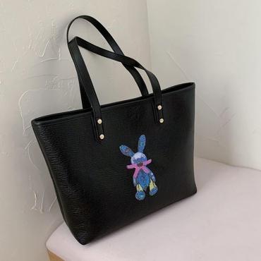 Lovely Casual Cartoon print Black Messenger Bag