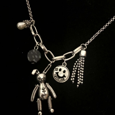 Lovely Trendy Cartoon Silver Necklace