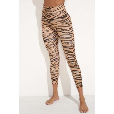 Lovely Trendy Tiger Print Leggings