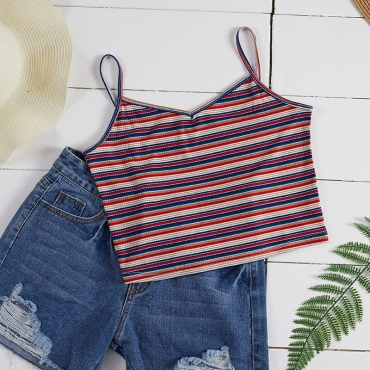 Lovely Casual Striped Multicolor Camisole