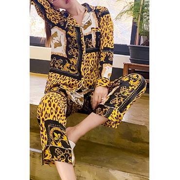 Lovely Casual Leopard Print Sleepwear