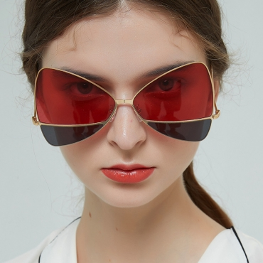 Lovely Chic Butterfly Frame Red Sunglasses
