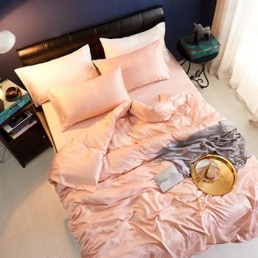 Lovely Leisure Basic Light Pink Bedding Set