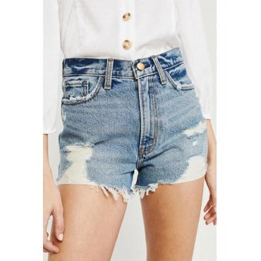 Lovely Trendy Patchwork Blue Shorts