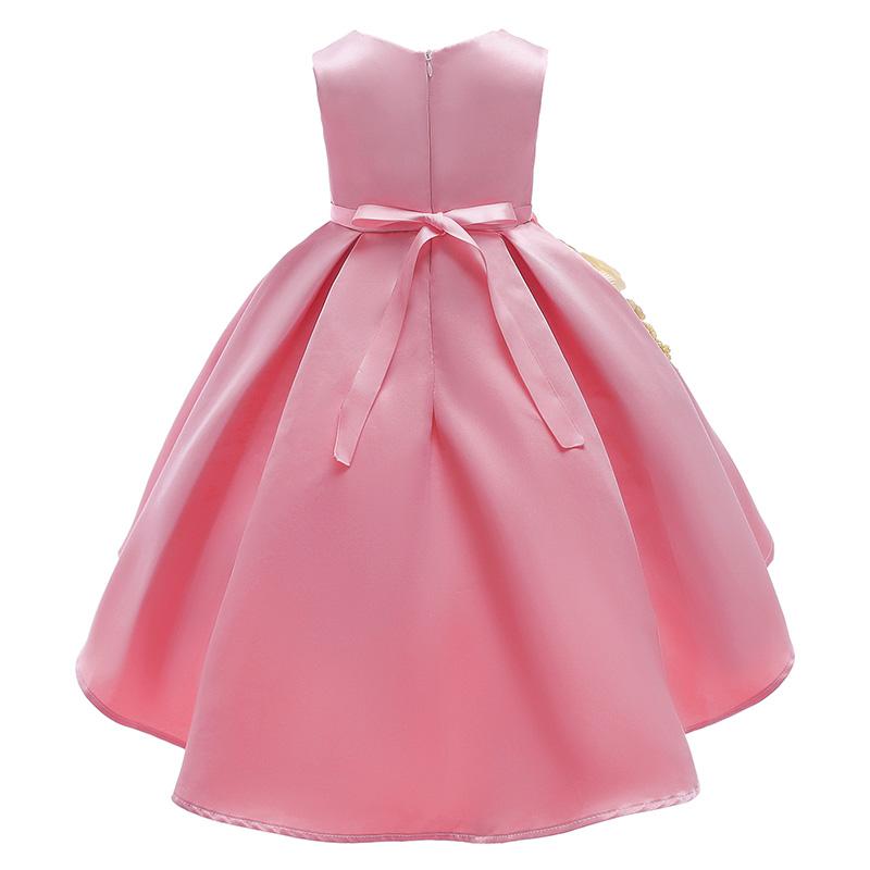 Lovely Trendy Patchwork Pink Girl Knee Length Dress