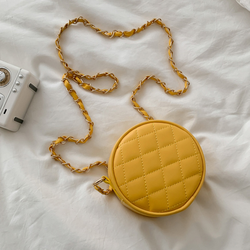 Lovely Stylish Chain Strap Yellow Crossbody Bag