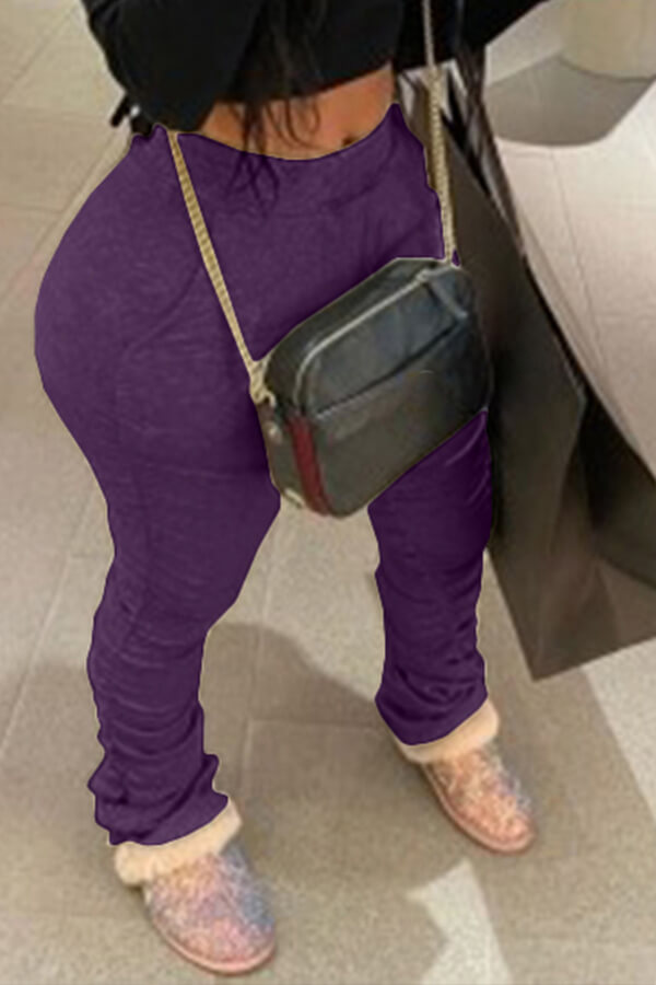 Lovely Casual Basic Skinny Purple Pants