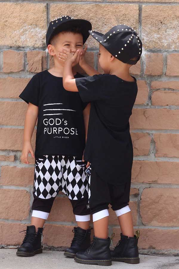 Boys Two Piece Lovely Trendy Letter Print Black Boy Two-piece Shorts Set фото