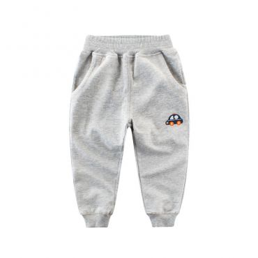Lovely Leisure Pocket Patched Grey Boy Pants