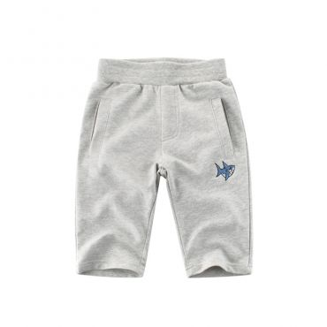 Lovely Trendy Embroidered Design Grey Boy Shorts