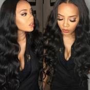 Lovely Trendy Long Wavy Black Wigs
