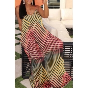 Lovely Casual Print Multicolor Maxi Dress