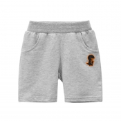 Lovely Casual Pocket Patched Grey Boy Shorts