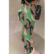 Lovely Leisure Camo Print Pants