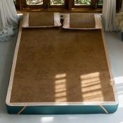 Lovely Leisure Patchwork Dark Coffee Bedding Set