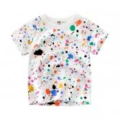 Lovely Leisure O Neck Print WhiteBoy T-shirt