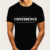 Lovely Leisure O Neck Letter Print Black T-shirt
