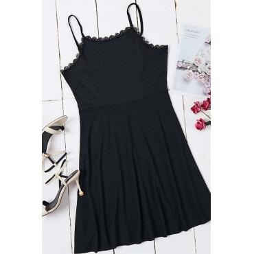 Lovely Trendy Striped Black Mini Dress