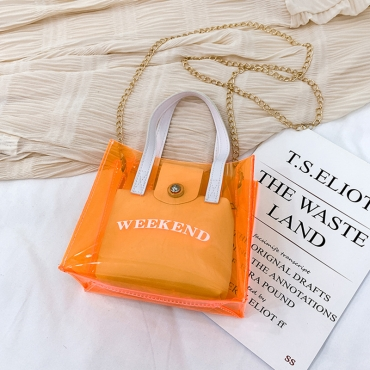 Lovely Trendy See-through CrociCrossbody Bag
