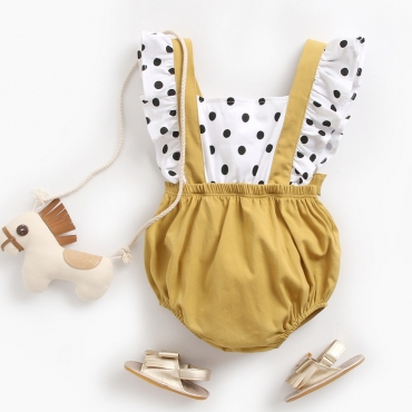 Lovely Sweet Dot Print White Girl One-piece Romper