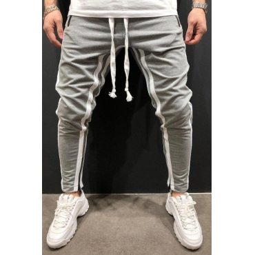 Lovely Sportswear Patchwork Grey Pants