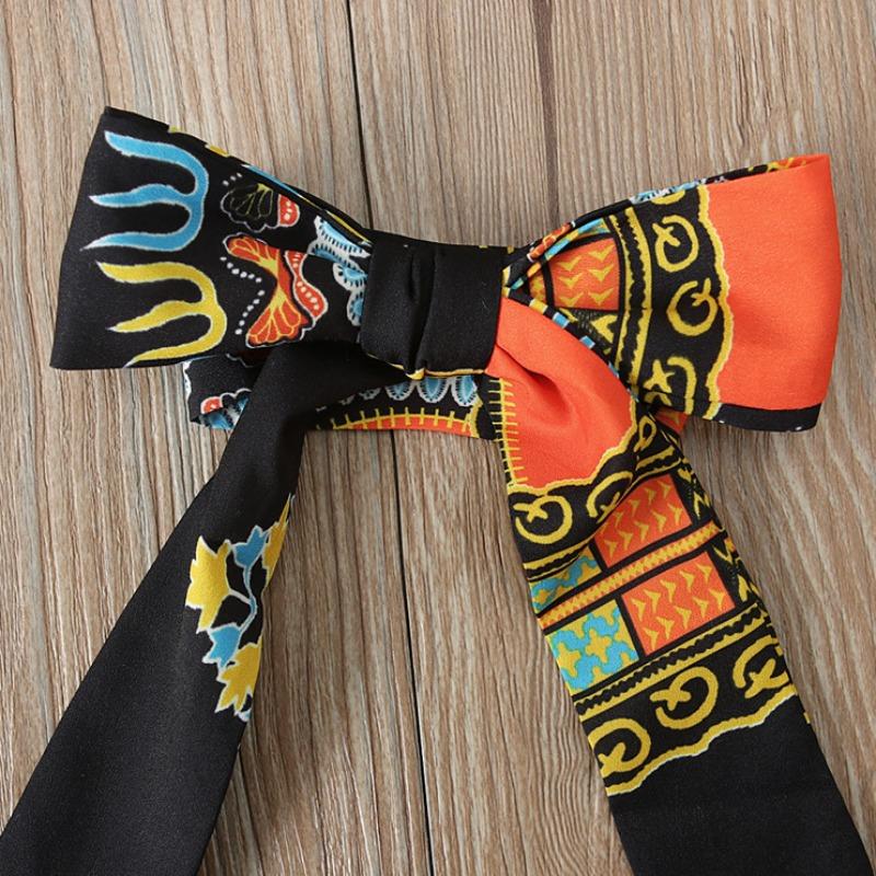 Lovely Bohemian Print Black Girl Ankle Length Dress