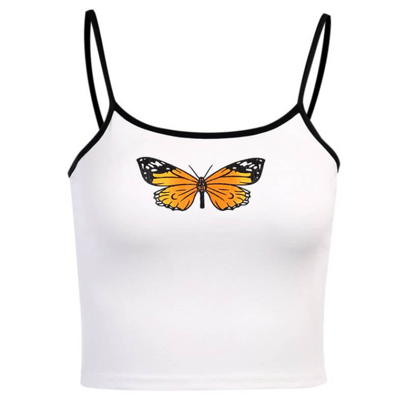 Lovely Casual Print White Camisole