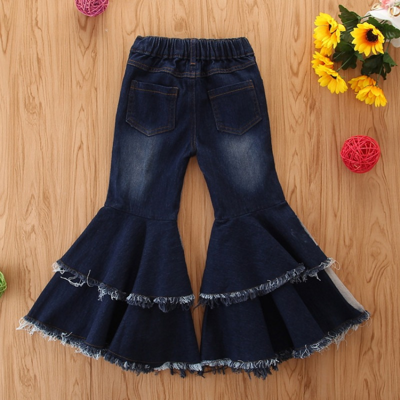 Lovely Stylish Patchwork Blue Girl Jeans